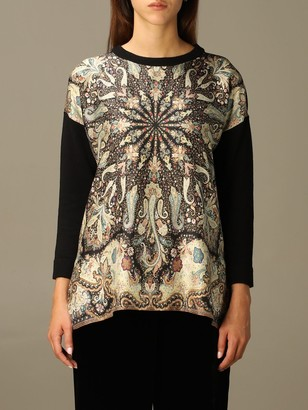 Etro Sweater Sweater In Printed Wool And Silk Blend