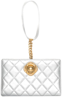 Chanel Limited Edition Silver Quilted Leather Evening By The Sea Clutch, Never Carried