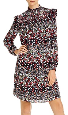 nanette Nanette Lepore Smocked Floral Shift Dress