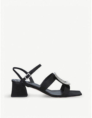 Roger Vivier Vivier Bikiviv' Strass heeled satin sandals