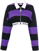 Palm Angels striped cropped jacket - women - Cotton - M