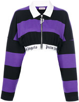 Palm Angels striped cropped jacket