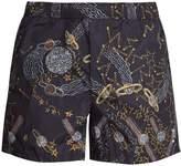 Valentino Cosmos-print swim shorts