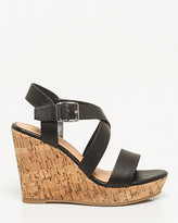 Le Château Leather-Like Criss-Cross Wedge