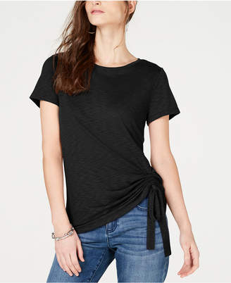 INC International Concepts I.n.c Petite Side-Ruched T-Shirt