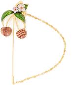 Dolce & Gabbana Cherry crystal-embellished brooch