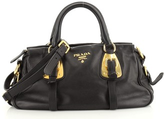 Prada Convertible Belted Satchel Soft Calfskin Medium