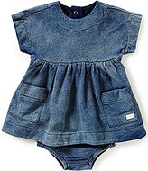 7 For All Mankind Baby Girls Newborn-24 Months Denim-Look French Terry Dress