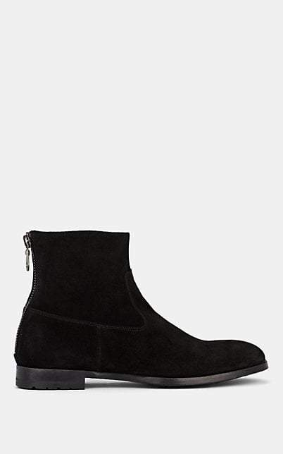 Barneys New York Men's Suede Ankle Boots - Black