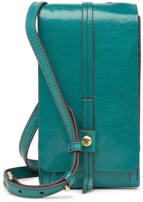 Hobo Token Leather Smartphone Crossbody Bag