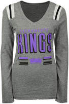 5th & Ocean Women's Sacramento Kings Free Kick Long-Sleeve T-Shirt