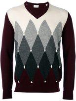 Ballantyne geometric intarsia jumper
