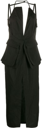 Jacquemus fitted backless midi dress