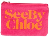 See by Chloe logo print pouch