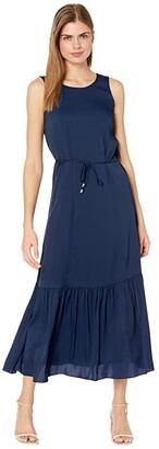 Milly Esmee Stretch Silk Dress (Navy) Women's Dress