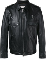 Coach zipped jacket - men - Leather/Polyester/Cupro - 48