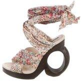 Louis Vuitton Floral Crossover Sandals