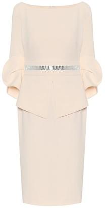Safiyaa Alondra stretch-crepe midi dress