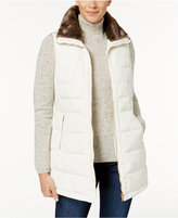 Charter Club Quilted Faux-Fur-Trim Vest, Created for Macy's