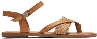 Toms Honey Vegetable Tanned Leather Synthetic Braid Women's Lexie Sandals