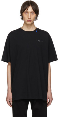 Off-White Black and Silver Oversized Backbone T-Shirt