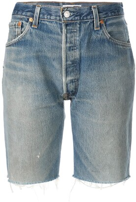 RE/DONE Knee Length Denim Shorts
