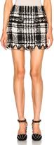 Alexander Wang Mini Triangle Hem Skirt in Black & White