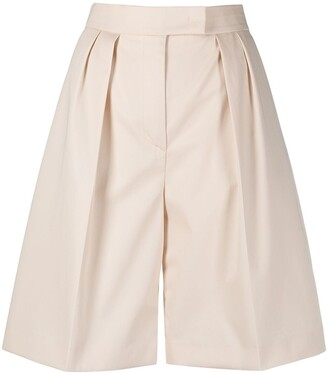 MSGM High-Rise Flared Knee-Length Shorts