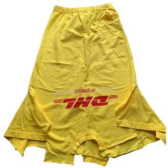 Vetements Yellow Cotton Skirts
