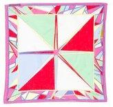 Emilio Pucci Printed Sheer Pocket Square