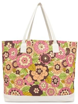 Dodo Bar Or Litta Floral-print Canvas Tote Bag - Pink Multi