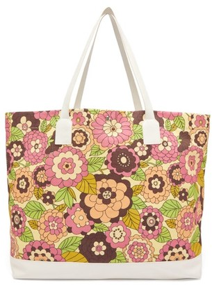 Dodo Bar Or Litta Floral-print Canvas Tote Bag - Womens - Pink Multi