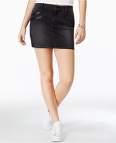 GUESS Denim Black Wash Moto Miniskirt