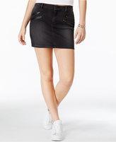 GUESS Denim Black Wash Moto Miniskirt