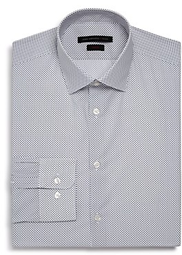 John Varvatos Micro-Diamond Slim Fit Dress Shirt