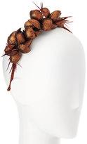 Gigi Burris Millinery Alchemia Silk Flower Headband, Copper