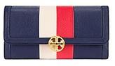 Tory Burch Duet Stripe Envelope Continental Wallet