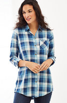 J. Jill Indigo Plaid Tunic