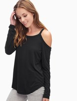 Splendid Long Sleeve Cold Shoulder Top