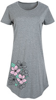Instant Message Women's Women's Tee Shirt Dresses HEATHER - Heather Grey Flower Short-Sleeve Dress - Women & Plus