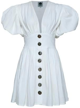 State Of Georgia The Jaime Mini Dress In White