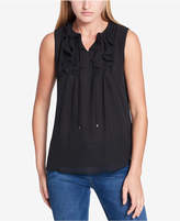 Tommy Hilfiger Sleeveless Ruffled Top, Created for Macy's