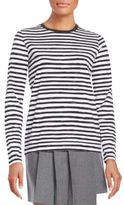 Marc by Marc Jacobs Striped Button-Back Cotton Tee