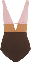 Zimmermann Chroma Color-block Swimsuit - Lavender