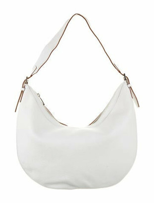 Burberry Leather Hobo White