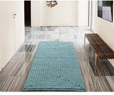 """Single Piece Barron Cotton Chenille Blue (20""""x30"""") Denim Rug, Non-Skid Backing Features, Solid Pattern, Luxurious Style, Beautifully Designed, Cotton Material, Teal, Aqua, Turquoise, Baby Blue"""
