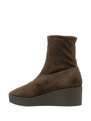 Clergerie Wedge-Sole Ankle Boots