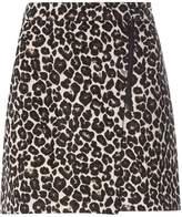 Dorothy Perkins Leopard Print Jacquard Mini Skirt
