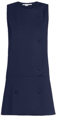 Stella McCartney Mina Sleeveless Stretch Wool Mini Dress