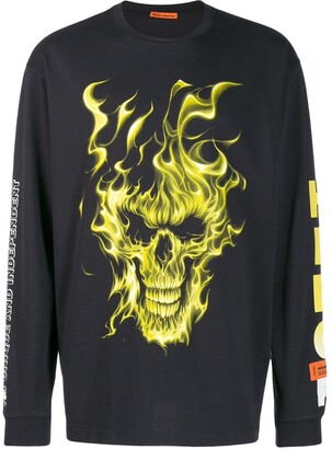 Heron Preston Fire Skull Sweatshirt